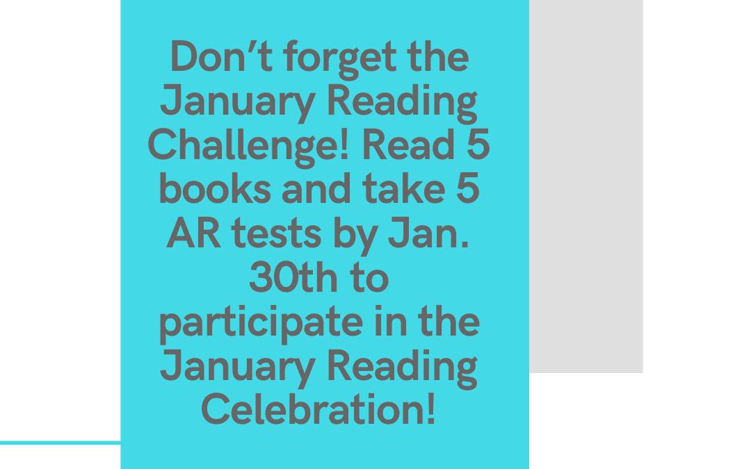 January Reading Challenge!